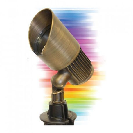Cast - Bluetooth LED RGBW Adjustable Color Spotlight - Bronze