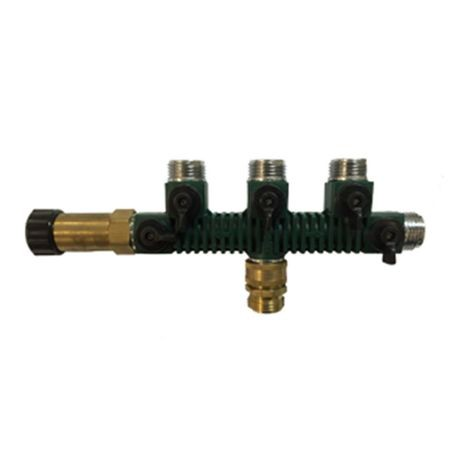 The Source - Green 5-Outlet Manifold