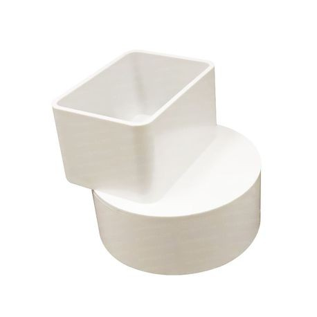 "Multi Fittings - 2"" X 3"" X 4"" PVC Sewer Offset Downspout Adapter"