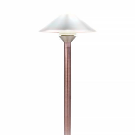 "FX LUMINAIRE - 12"" 3 LED PATHLIGHT RISER - COPPER FINISH"
