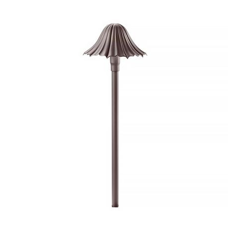 Kichler Lighting - Single-Tier Leaf Light - Textured Architectural Bronze Finish