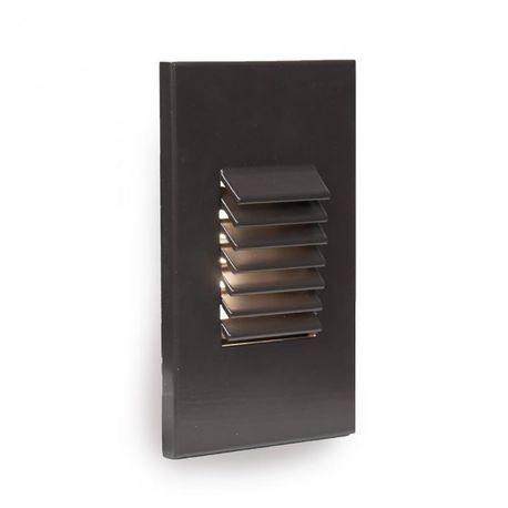 WAC Lighting - 2W LED Louvered Vertical Rectangle Wall/Step Lights