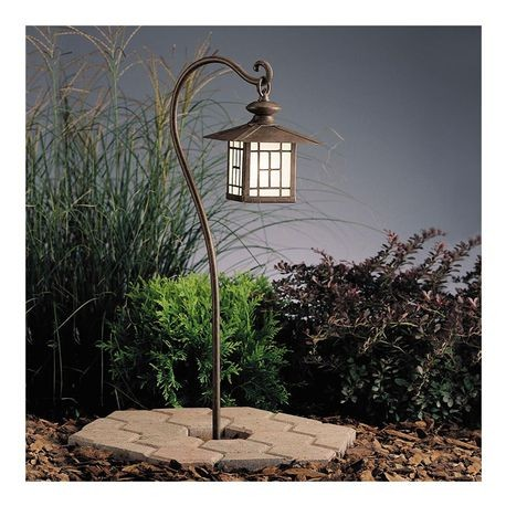 Kichler Lighting - Mission-Style Path Lantern - Patina Bronze Finish