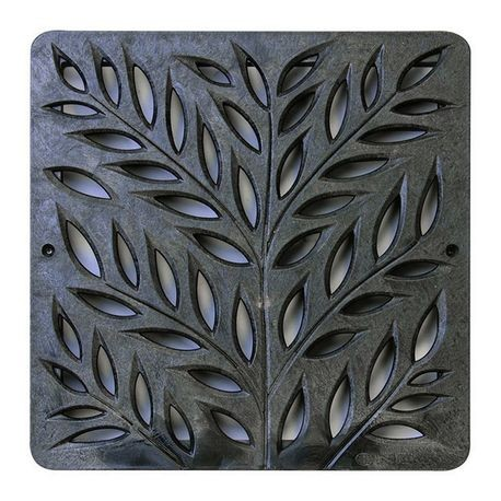 "NDS - 12"" X 12"" Black Square Botanical Grate"