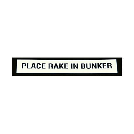 "Standard Golf - 5-1/2"" Rake Replacement Decal - Place Rake In Bunker - Pack of 12"