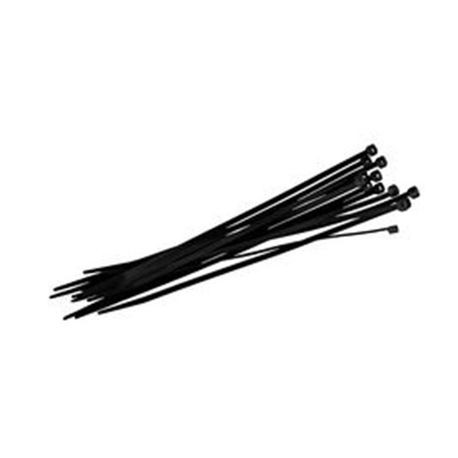 "T Christy Enterprises - 4"" Black UV Cable Tie (100 Per Bag)"