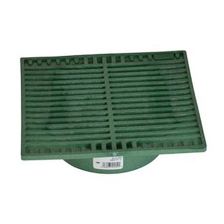"NDS - 9"" Green Square Grate with Adapter"
