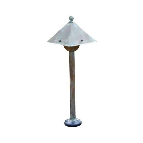 "Brass Light Gallery - Market 6"" Wide Low Voltage Path Light"