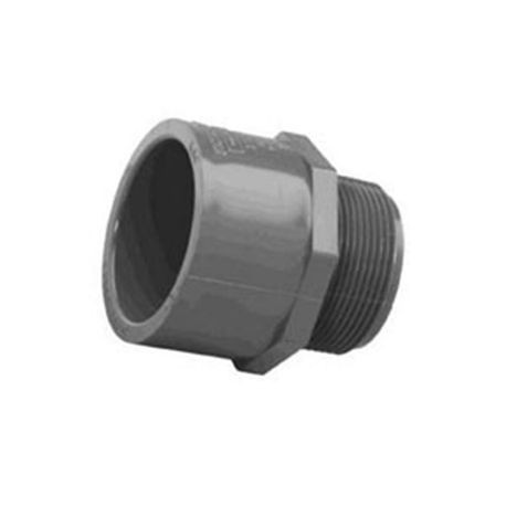 "Spears - 4"" Sch80 PVC Male Adapter MPT X Slip"