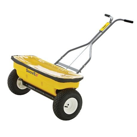 SnowEx - Walk Behind Drop Spreader with Stainless  Steel Frame - 160 LBS