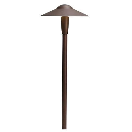 Kichler - 12V LED Dome Path Light, Textured Architectural Bronze
