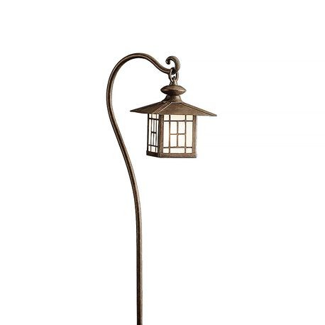 Kichler - Mission-Style Path Lantern - Patina Bronze Finish