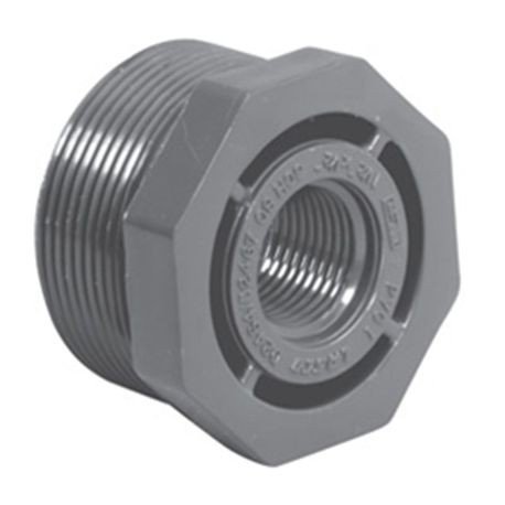"Spears - 1-1/2"" X 1/2"" Sch80 PVC Reducer Bushing (Flush Style) MPT X FPT"