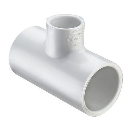 "Spears - 2-1/2"" X 2-1/2"" X 2"" Sch40 PVC Reducing Tee Slip X Slip X Slip"