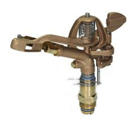 "Storm Manufacturing - 1"" Part Circle/Full-Circle Brass Impact Sprinkler"