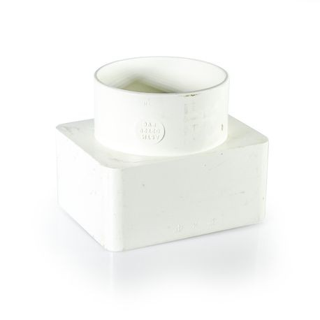 "Plastic Trends - 3"" X 4"" X 3"" PVC Sewer Downspout Adapter"