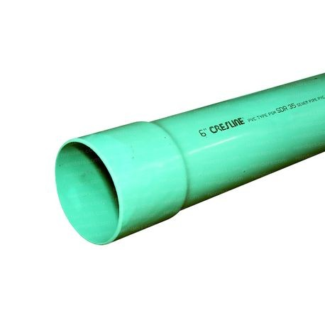 "Cresline - 6"" X 10' Green Cell Core Sewer Pipe BE F-891"