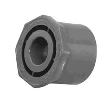"Spears - 2"" X 1"" Sch80 PVC Reducing Bushing (Flush Style) Spigot X FPT"