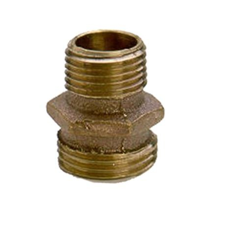 Brass Non-Swivel Fitting 3/4 MHT X 1/2 MPT