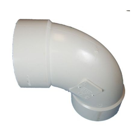 "Multi Fittings - 3"" PVC Sewer 1/4 Bend Long Turn Street Elbow"