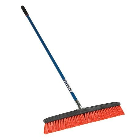 "Seymour - 24"" Push Broom with 60"" Fiberglass Handle - For Rough Sufaces"