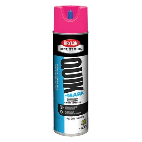 Krylon - 20 OZ Florescent Pink QUIK-MARK INVERTED MARKING PAINT