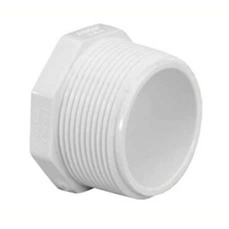"Spears - 2"" Sch40 PVC Threaded Plug MPT"