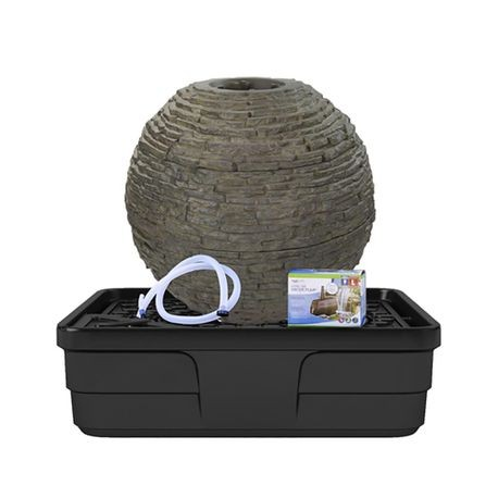Aquascape - Medium Stacked Slate Sphere Landscape Fountain ...
